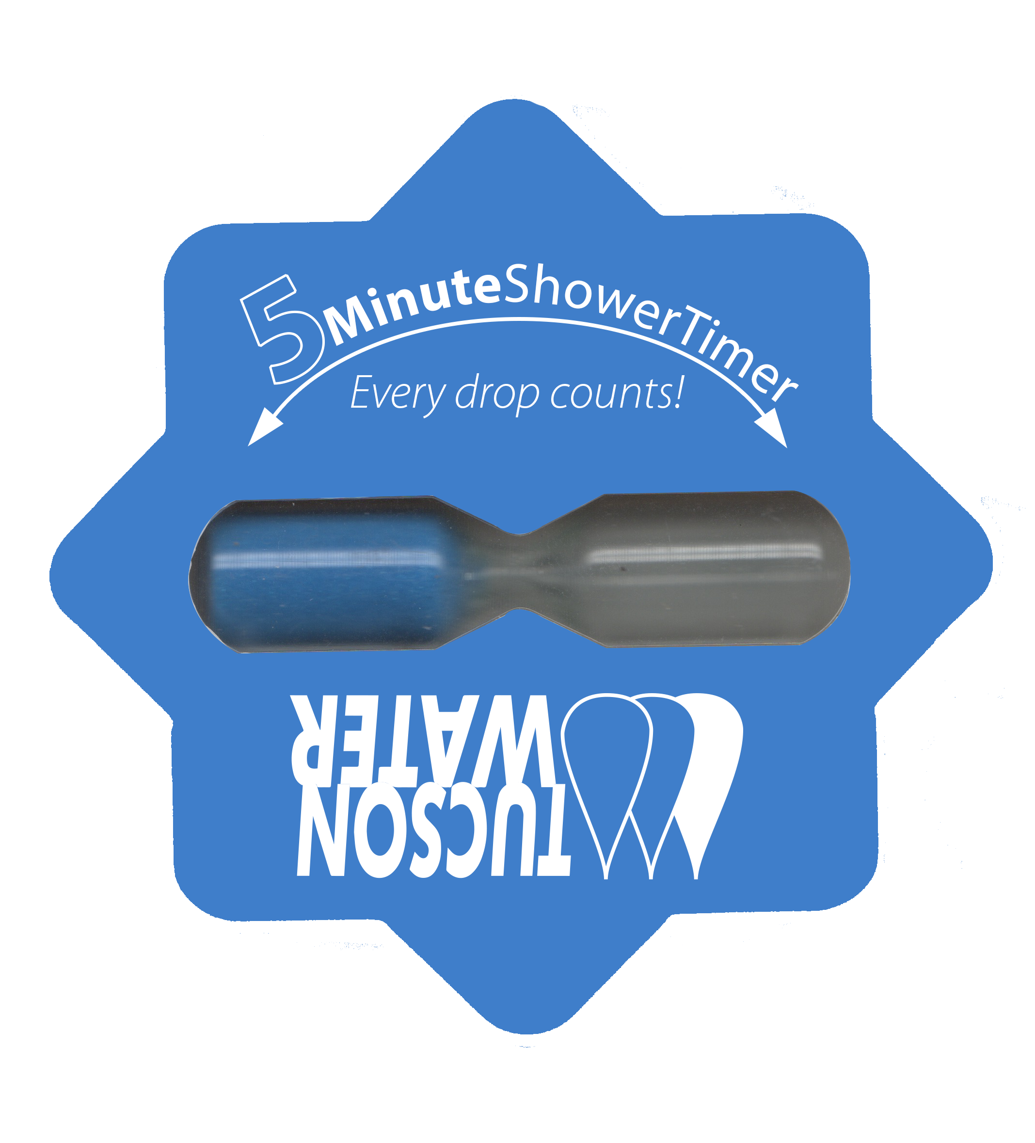 A 5-minute shower timer is a great way to keep your shower on track!