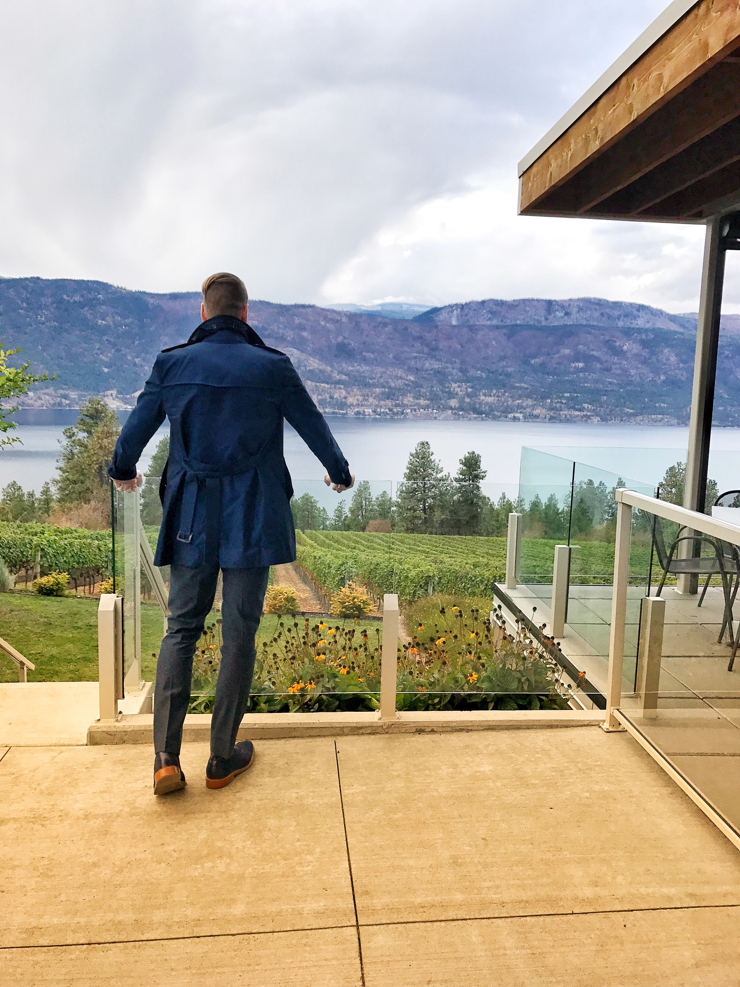 Enjoying the beauty of BC's Lake Country wine region.