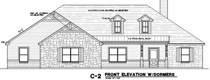 2250 Elevation C2 with Dormers Side Entry.png