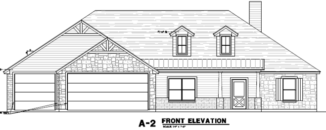 2250 Elevation C3 with Dormers Front Entry.png