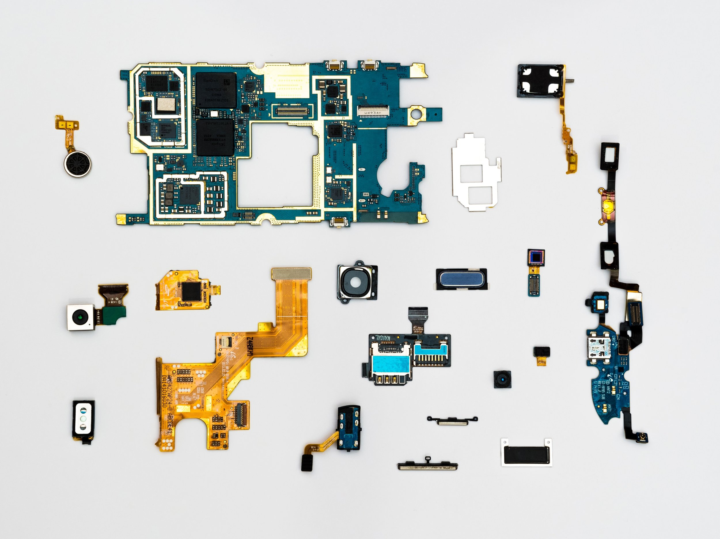 Image of smartphone modules. Stock image.