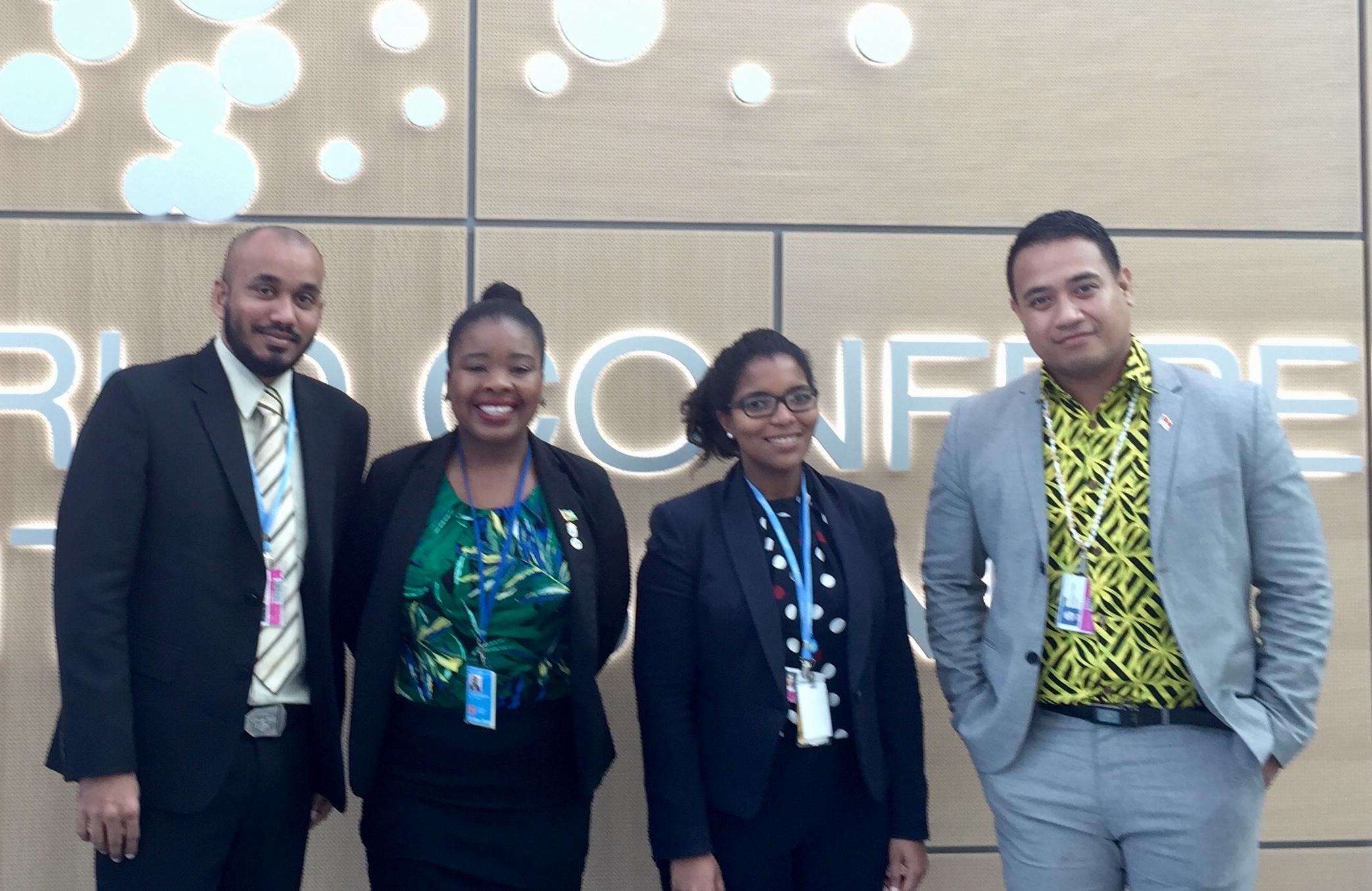 - May 2018: AOSIS Fellows representing Maldives, Guyana, Seychelles, and Kiribati at UNFCCC SB48 in Bonn.