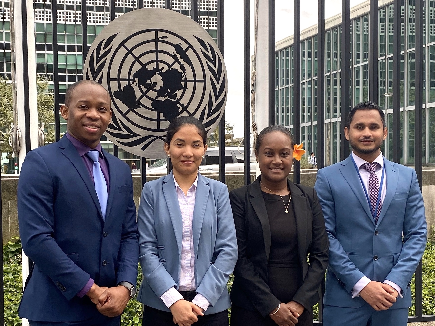 - October 2019: AOSIS Fellows representing Jamaica, Belize, Solomon Islands, and Maldives at UN HQ in New York. This is the sixth class of AOSIS fellows.