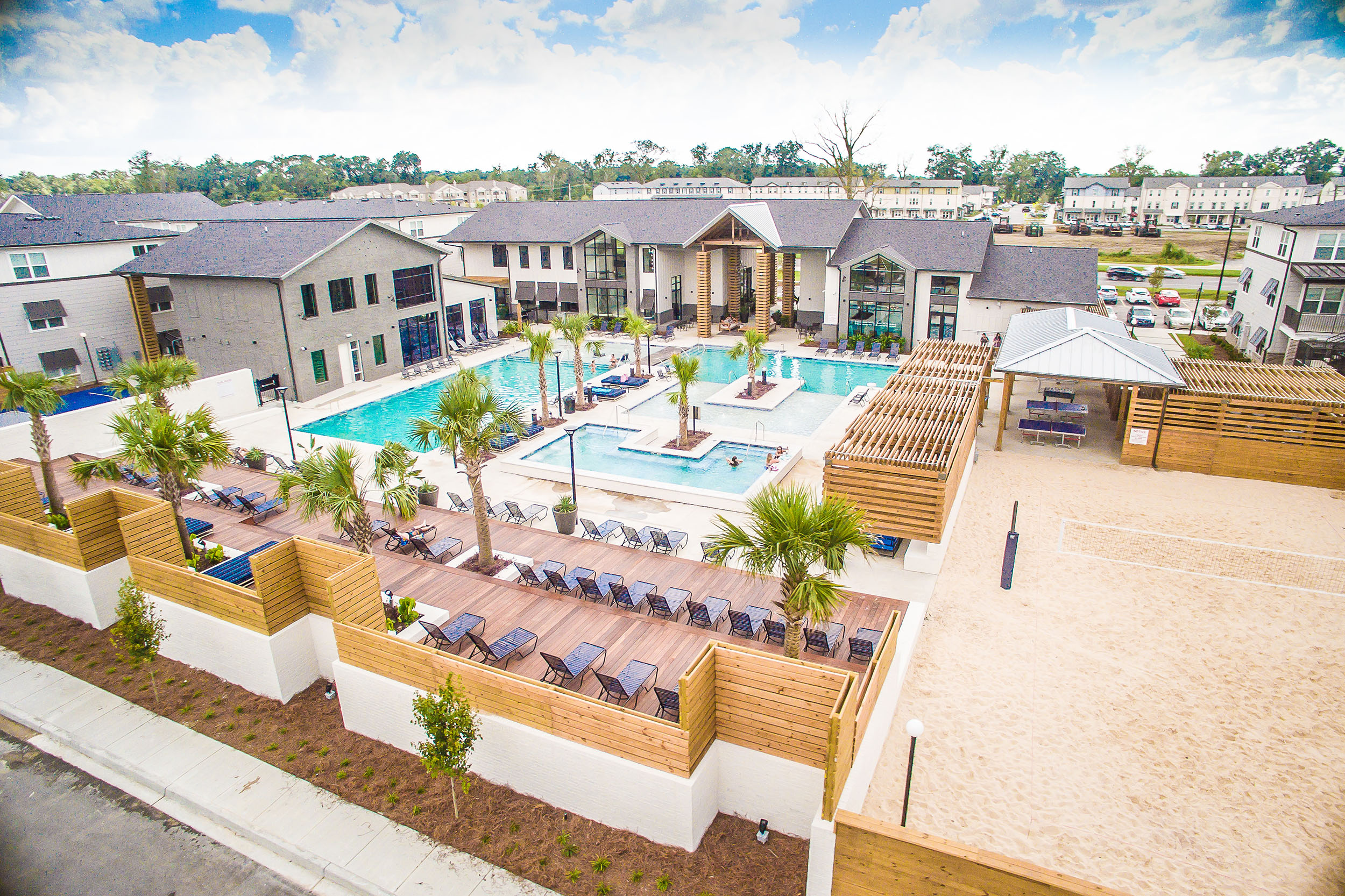 - An emphasis was placed on the expansive pool deck and indoor/outdoor connections that can truly enhance lifestyle in this southern region with sunrise yoga, exterior gaming and outdoor kitchens.