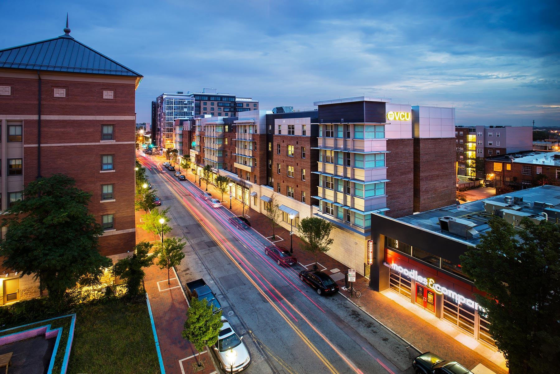 VCU - West Grace Street Housing</br><em>Richmond, Virginia</em>|featured residencehalls architecture