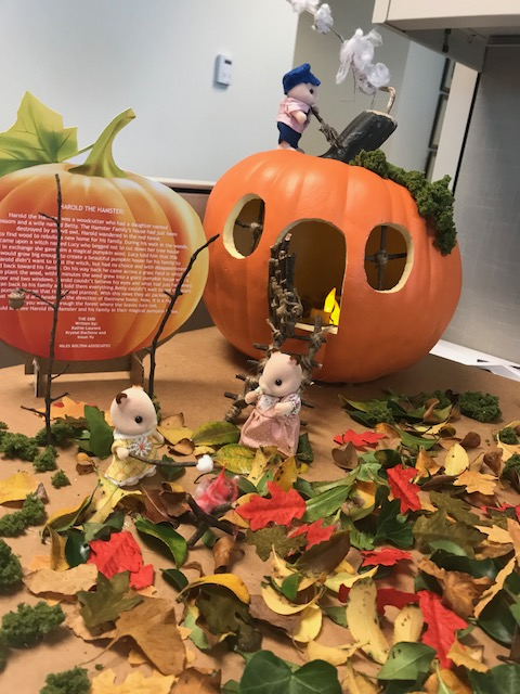 NBA's Finished Masterpiece: The Hamster Family - All decorated pumpkins were donated to The Zone at Children's Healthcare of Atlanta.