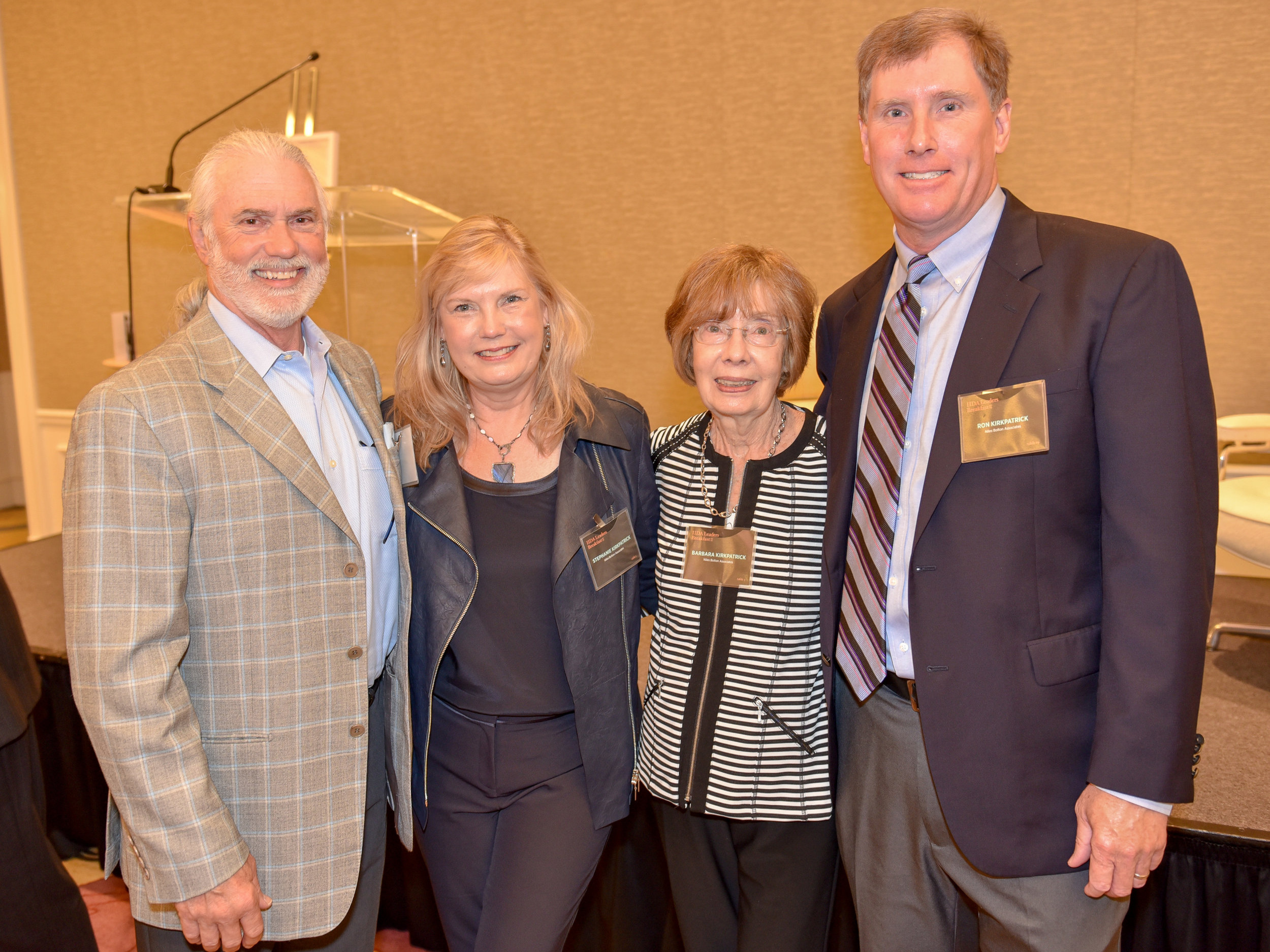 Stephanie with her husband (Stan Everett), mother (Barbara Kirkpatrick) and brother (Ron Kirkpatrick)
