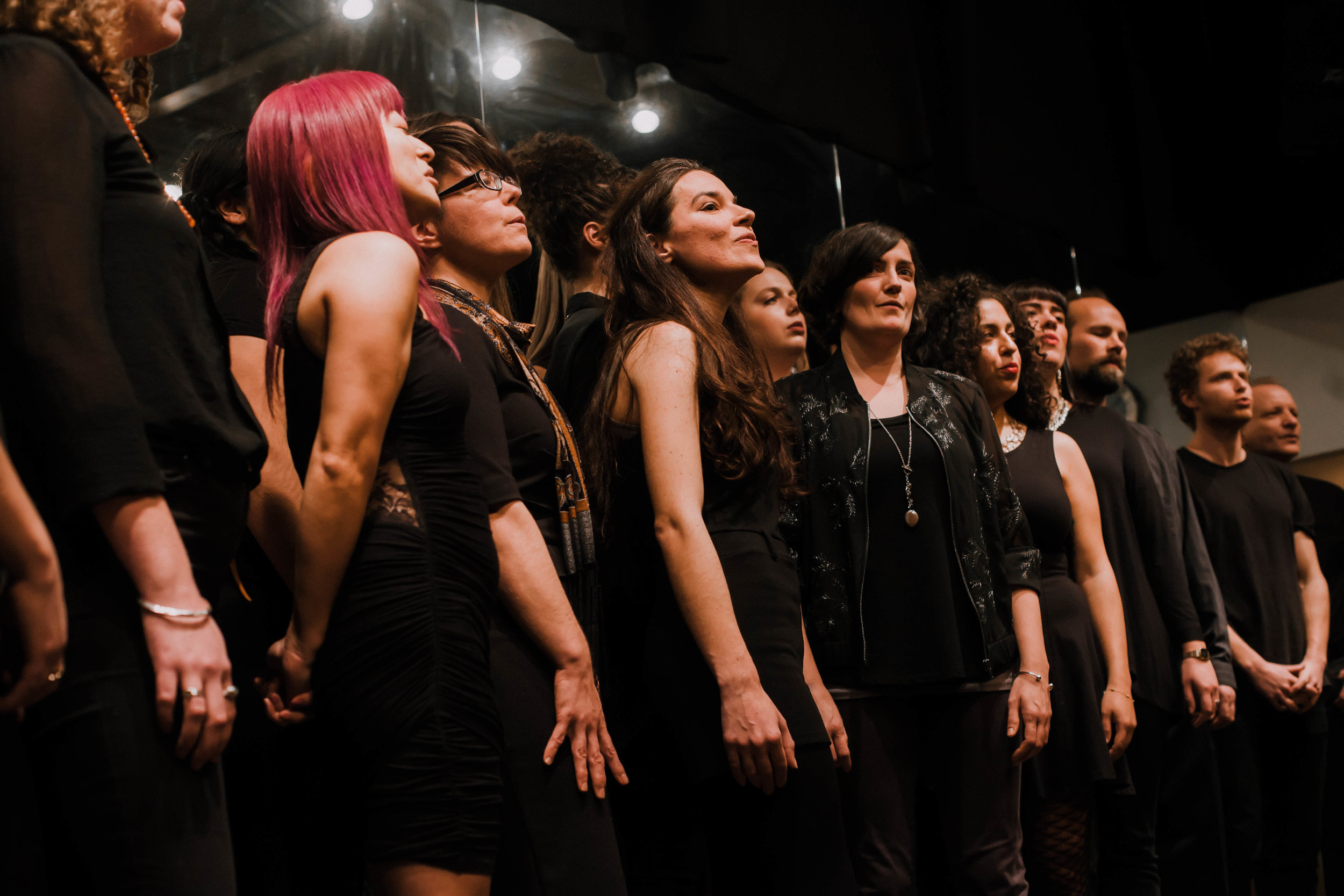 Rain Coast Choir performing at One Thousand Rivers for our Sparkle and Shine Showcase, Dec. 16th, 2018