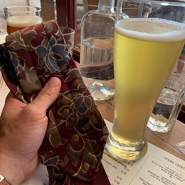 Sick new silk tie/guitar strap courtesy of the Decatur Arts Festival, and a frosty bev to help me feel better about my purchase. All in a day's work! #thewirelight