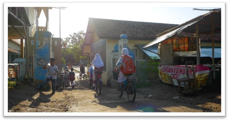 The entranceway to SD1 Bulungkulon in Bulung Kulon village, Kudus district, Central Java province.