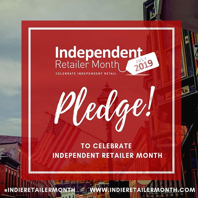 #IndieRetailerMonth 2019 is in full swing and we love seeing retailers and consumers alike pledging to celebrate #indieretail throughout July and beyond. Join them and pledge to support - link in bio! . . . #Indieretailermonth #celebration #pledge #independentretailermonth #indieretail #indieretailer #shopping #lovelocal #supportlocalbusiness #localshop #locallyowned #independentretailer #july #movement #retail #store #smallbusiness #smallbiz #entrepreneur #love #week #inspo #stats #insight