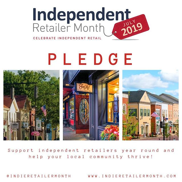 Do you love #indieretail? We do too! Join our campaign and pledge to #celebrate indie throughout July and beyond with us.  Link in bio . . . #Indieretailermonth #celebration #pledge #independentretailermonth #indieretail #indieretailer #shopping #lovelocal #supportlocalbusiness #localshop #locallyowned #independentretailer #july #movement #retail #store #smallbusiness #smallbiz #entrepreneur #love #week #inspo #stats #insight