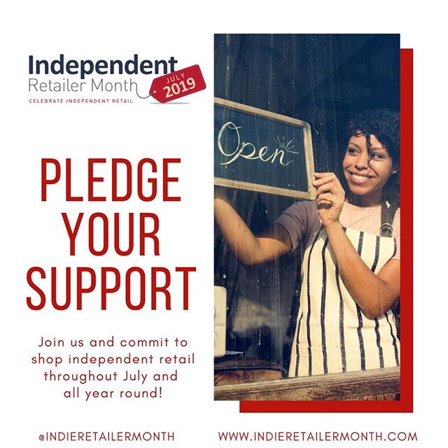 We're continuing our love for #indieretail beyond July! Join our movement by pledging to support independent retailers all year long! . . . #Indieretailermonth #celebration #pledge #independentretailermonth #indieretail #indieretailer #shopping #lovelocal #supportlocalbusiness #localshop #locallyowned #independentretailer #july #movement #retail #store #smallbusiness #smallbiz #entrepreneur #love #week #inspo #stats #insight