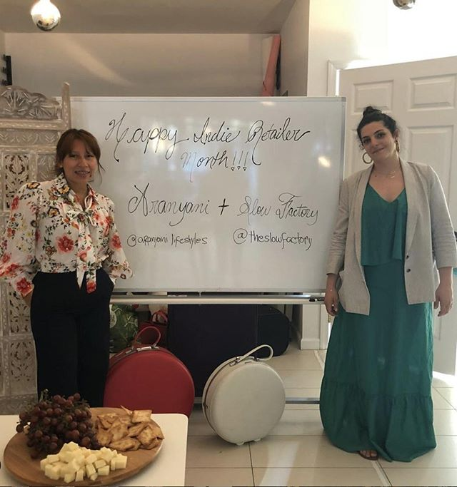 #TBT to July 2018 when independent #accessories brand @aranyani hosted a series of shopping events at New York based #indieretail stores in celebration of #IndieRetailerMonth! How have you #celebrated this month? . . . #throwback #throwbackthursday #flashback #lookingback #past #Indieretailermonth #celebration #pledge #independentretailermonth #indieretail #indieretailer #shopping #lovelocal #supportlocalbusiness #localshop #locallyowned #independentretailer #july #movement #retail #store #smallbusiness #smallbiz #entrepreneur