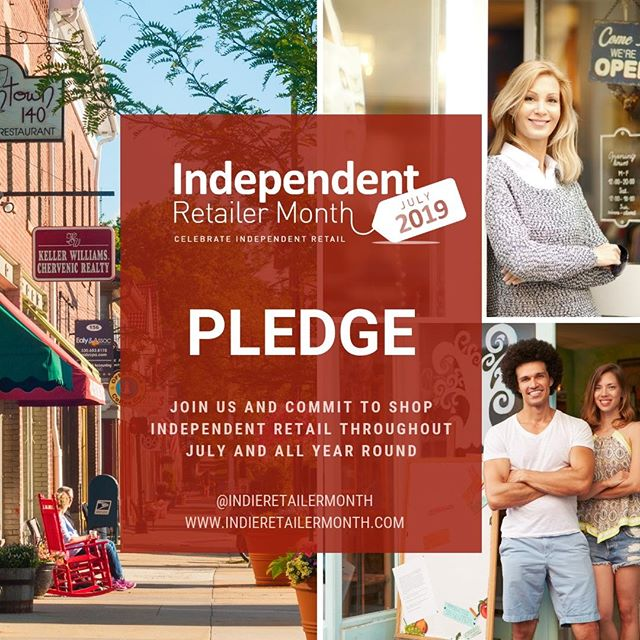 Independent Retailer Month is almost finished but your love for local doesn't need to stop here! Keep the movement going by supporting independent retailers in your local community for the rest of the year! . . . #Indieretailermonth #celebration #pledge #independentretailermonth #indieretail #indieretailer #shopping #lovelocal #supportlocalbusiness #localshop #locallyowned #independentretailer #july #movement #retail #store #smallbusiness #smallbiz #entrepreneur #love #week #inspo #stats #insight