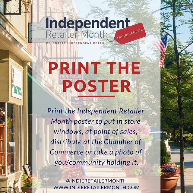 Indie Retailer Month may almost be complete but we encourage you to place posters in your window showing how you proudly support all things #indieretail! . . . #activities #fun #events #engage #community #celebration #indieretail #indieretailer #shopping #lovelocal #supportlocalbusiness #localshop #locallyowned #independentretailer #independentretailermonth #indieretailermonth #retail #store #smallbusiness #smallbiz #entrepreneur #love #week #inspo #stats #insight