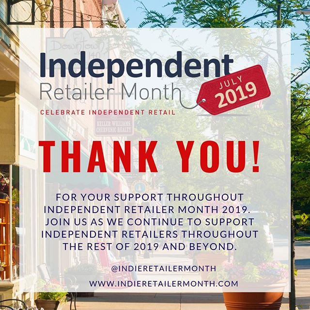 Another fantastic #IndieRetailerMonth is a wrap! Thank you to all who joined in our campaign! We hope you continue to celebrate #indieretail and grow your community together! . . . #joinus #Indieretailermonth #celebration #pledge #independentretailermonth #indieretail #indieretailer #shopping #lovelocal #supportlocalbusiness #localshop #locallyowned #independentretailer #july #movement #retail #store #smallbusiness #smallbiz #entrepreneur #love #week #inspo #stats #insight