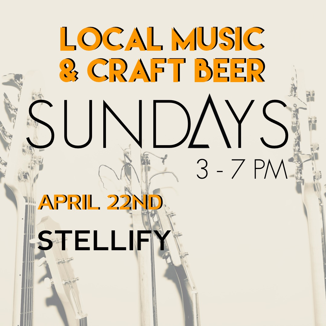 Join us on Sundays as we feature local musicians for some live music, cabin vibes & delicious craft beers. Perfect for an enjoyable wrap to your weekend and timed for après everything !   April 22nd from 3 - 7 PM  we welcome STELLIFY.