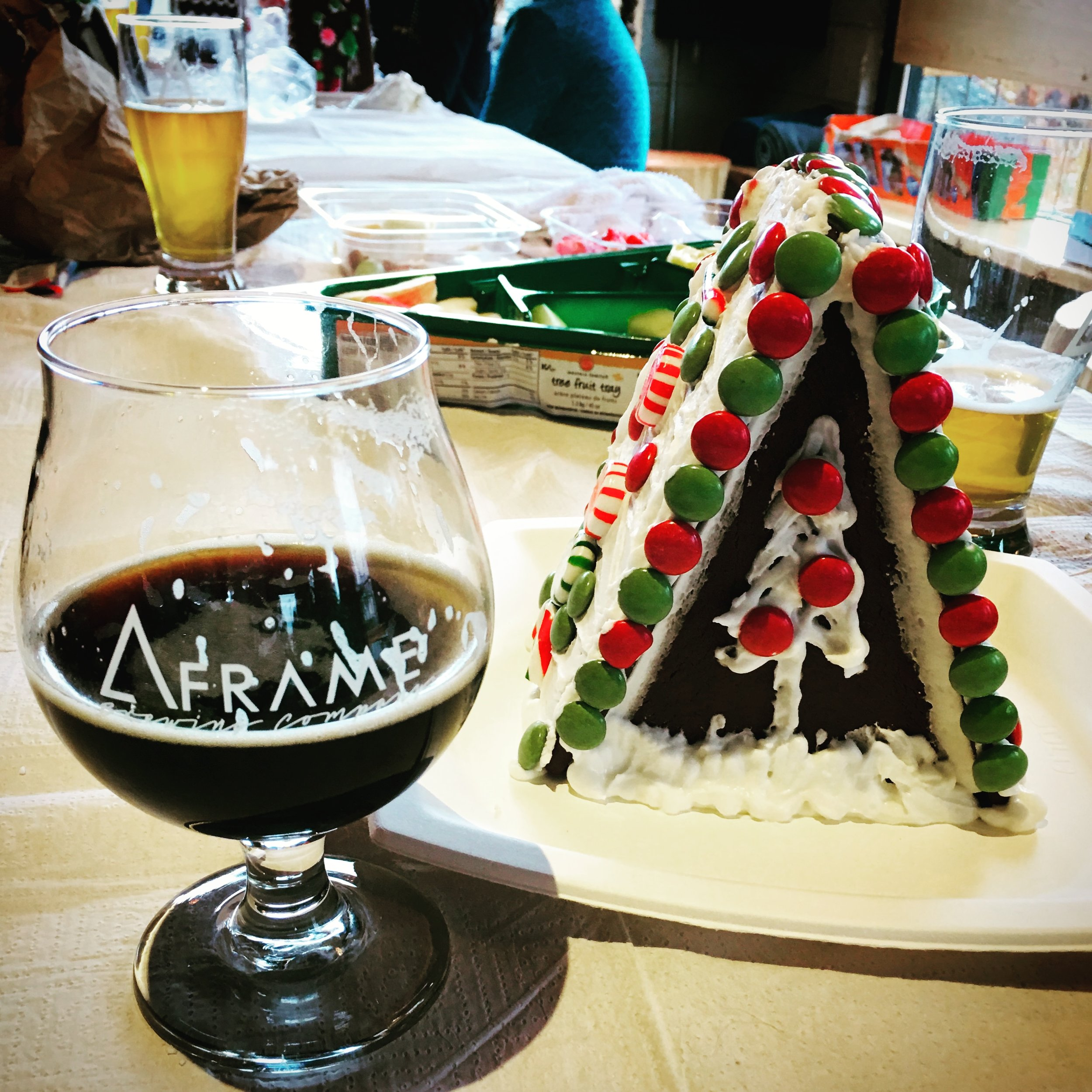 Pre-order your A-FRAME Gingerbread Kit for $22 in the Tap Room by Dec 6th. Kits include 4 gingerbread pieces to assemble, icing and candies for decorating.