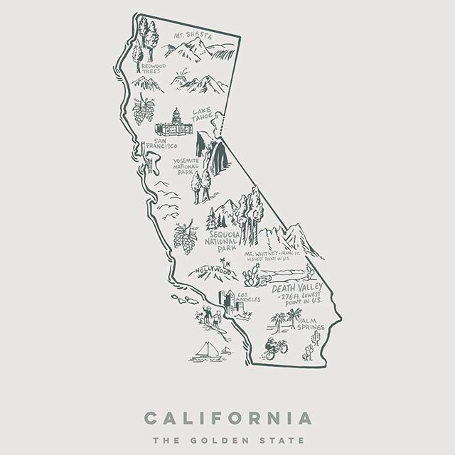 California State PRINTS FOR SALE Giclee print 100% archival cotton paper Signed prints #carsandcoffee