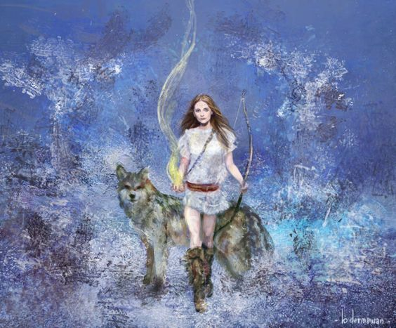 winter wolf and woman.jpg