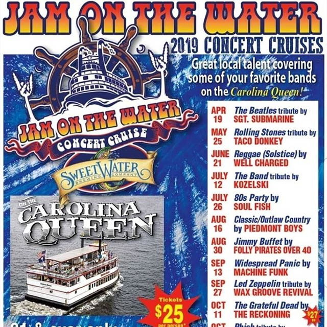 Charleston, SC this Friday 9/13, we're on a boat! Make your plans to be with us!