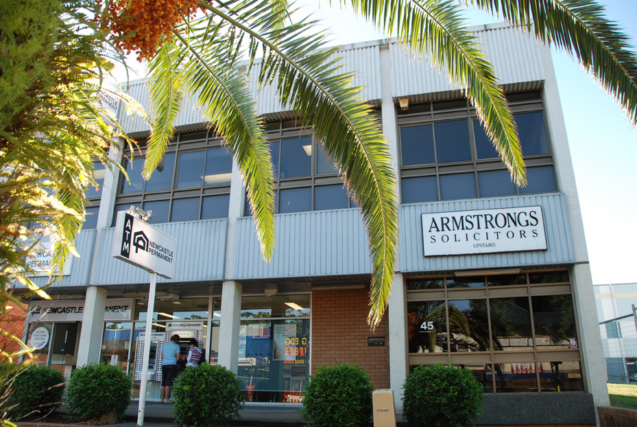 The office of Armstrongs Solicitors at Toronto NSW AUSTRALIA