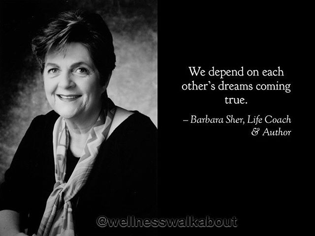 When I was 16 my mom took me to see Barbara Sher's Love the Life You Live speaking tour. I didn't know why she invited me but I figured Hey, why not? and went for a mom/daughter date. I'm wondering now if that evening was my first taste of the self-help genre that would spark my curiosity and inspire my professional direction toward body care and SVH? In any case, stumbling across her TED Talk from a few years ago reminded me of the charisma, humor and joy she brought my mind over twenty years ago. This quote in particular resonated with me as I contemplate the collective that is earth, that is humanity, that is our spiritual mental pot. Our collective does not thrive on perfection, it thrives on connection. It thrives on a dynamic tension between stability and instability where one entity's resources are another's needs, and there's an agreement of discourse and sharing made. Maybe you'll like the quote, too. #barbarasher #livethelifeyoulove #selfhelp #svh #serenityvibrationhealing #serenityvibrationalhealingpractitioner