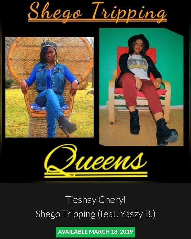 Who's ready???? @queenyaszy and I took it to another level with this one. Foot in they neck!! #tieshaycheryl #queenyaszyb #hip hop #hiphopqueens #shego #tidal #spotify #itunes #googleplay