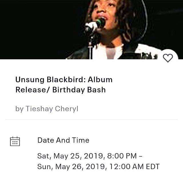 Early bird ends tomorrow!!! Link on profile  #may23 #Gemini #tieshaycheryl #unsungblackbird #Ninasimone #hiphop #poetry #spokenword