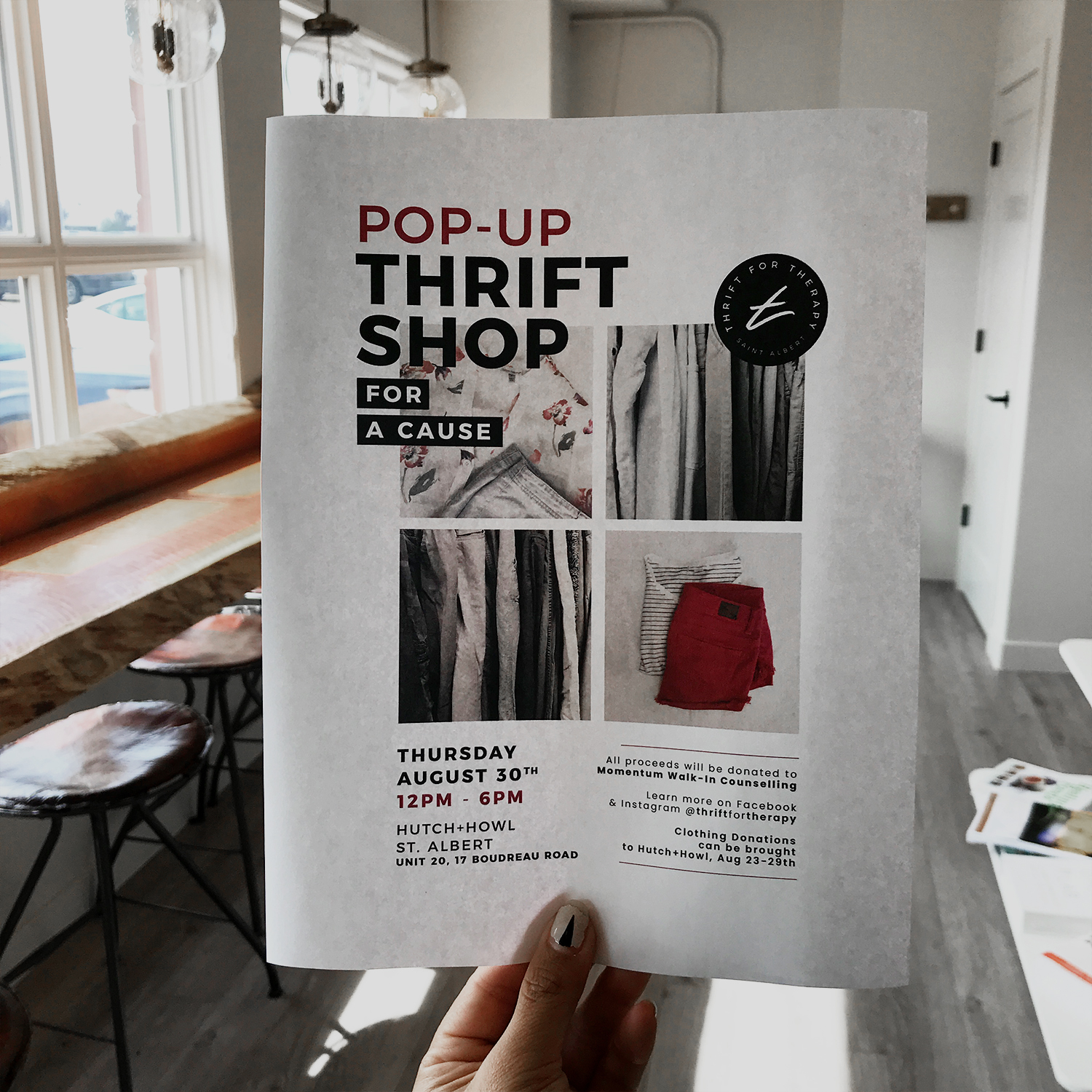 Thrift for Therapy | Sustainable Fashion & Mental Health Support in Edmonton, KAESPO YEG Blog
