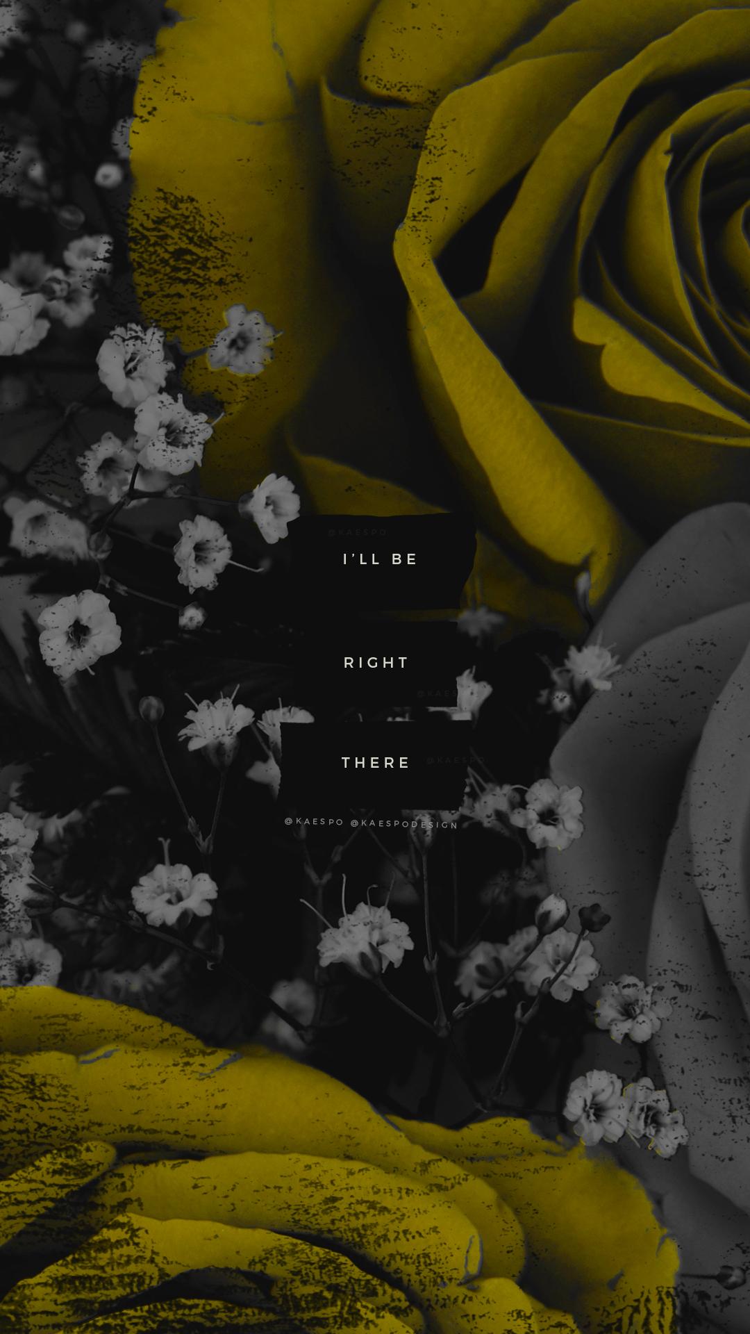 Wallpapers No 428 Jumpsuit Lyrics Dark Florals Yellow Photo