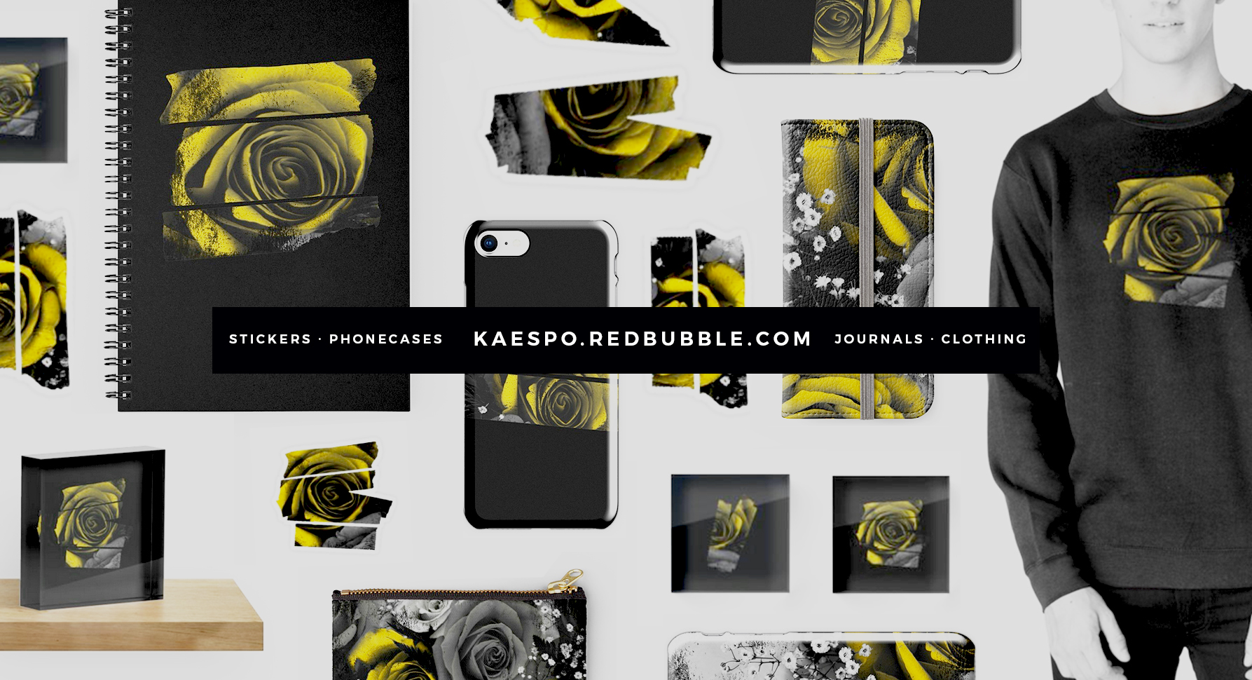 Trench Inspired Floral Designs and Stickers by KAESPO Design