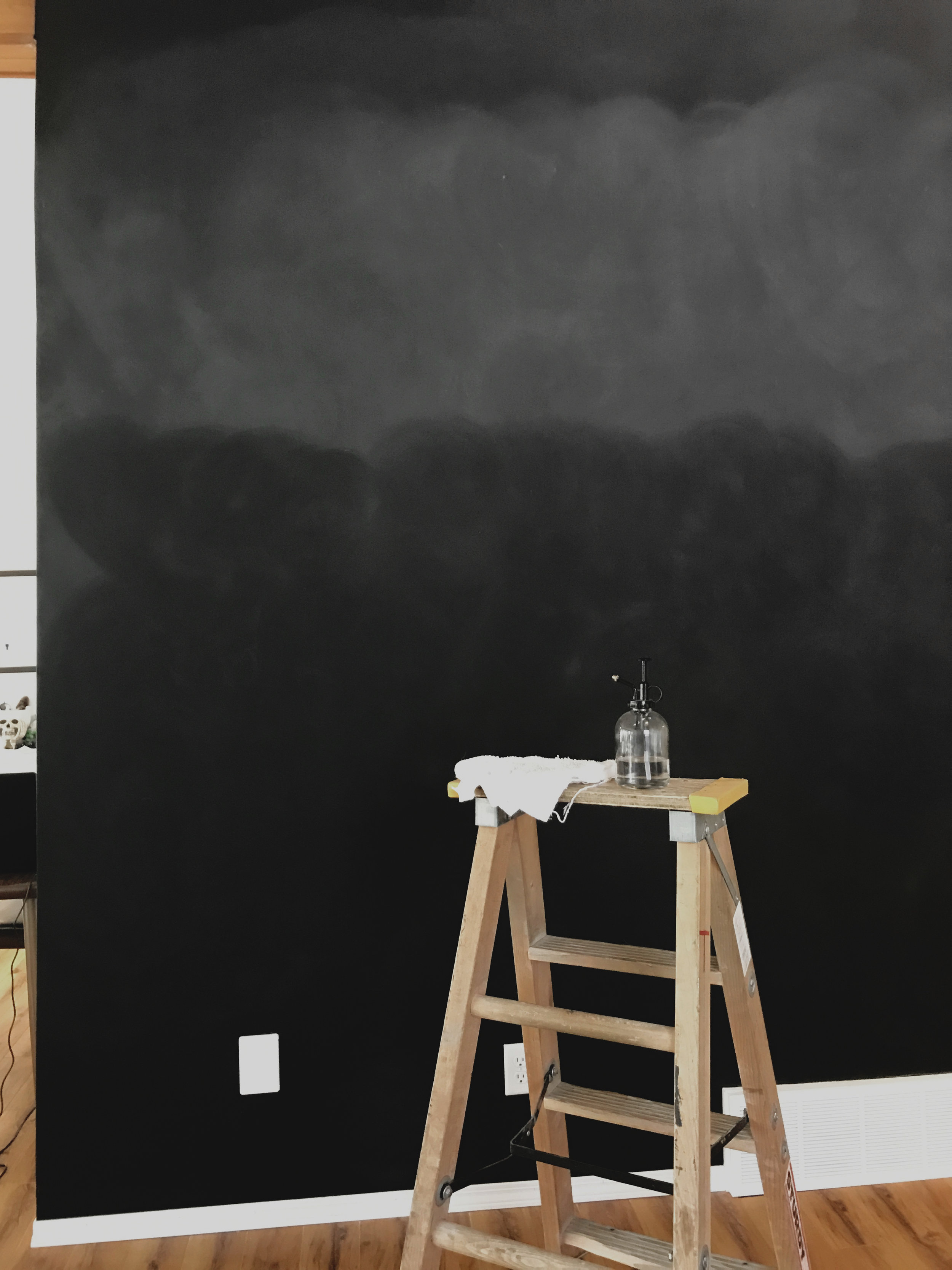 How To Make A Chalkboard Wall in Any Room - KAESPO Creative, Edmonton Designer & Blogger