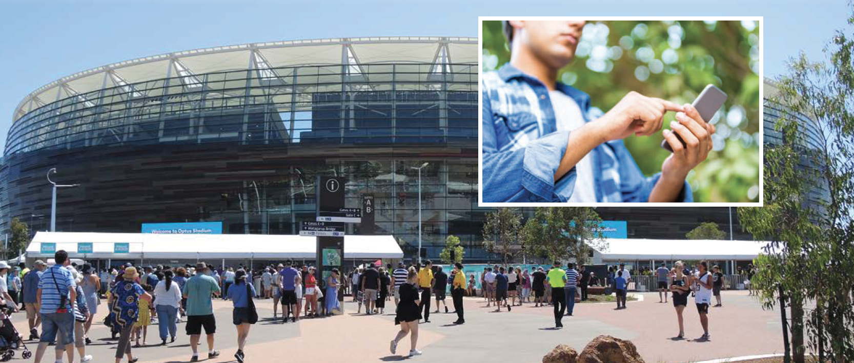 The Perth Stadium walking trail will feature some fun augmented reality experiences.