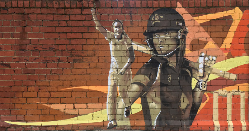 Artwork by George Domahidy Animation by Alexander Hare  Located atWACA, cnr Hay& Hale Sts, East Perth
