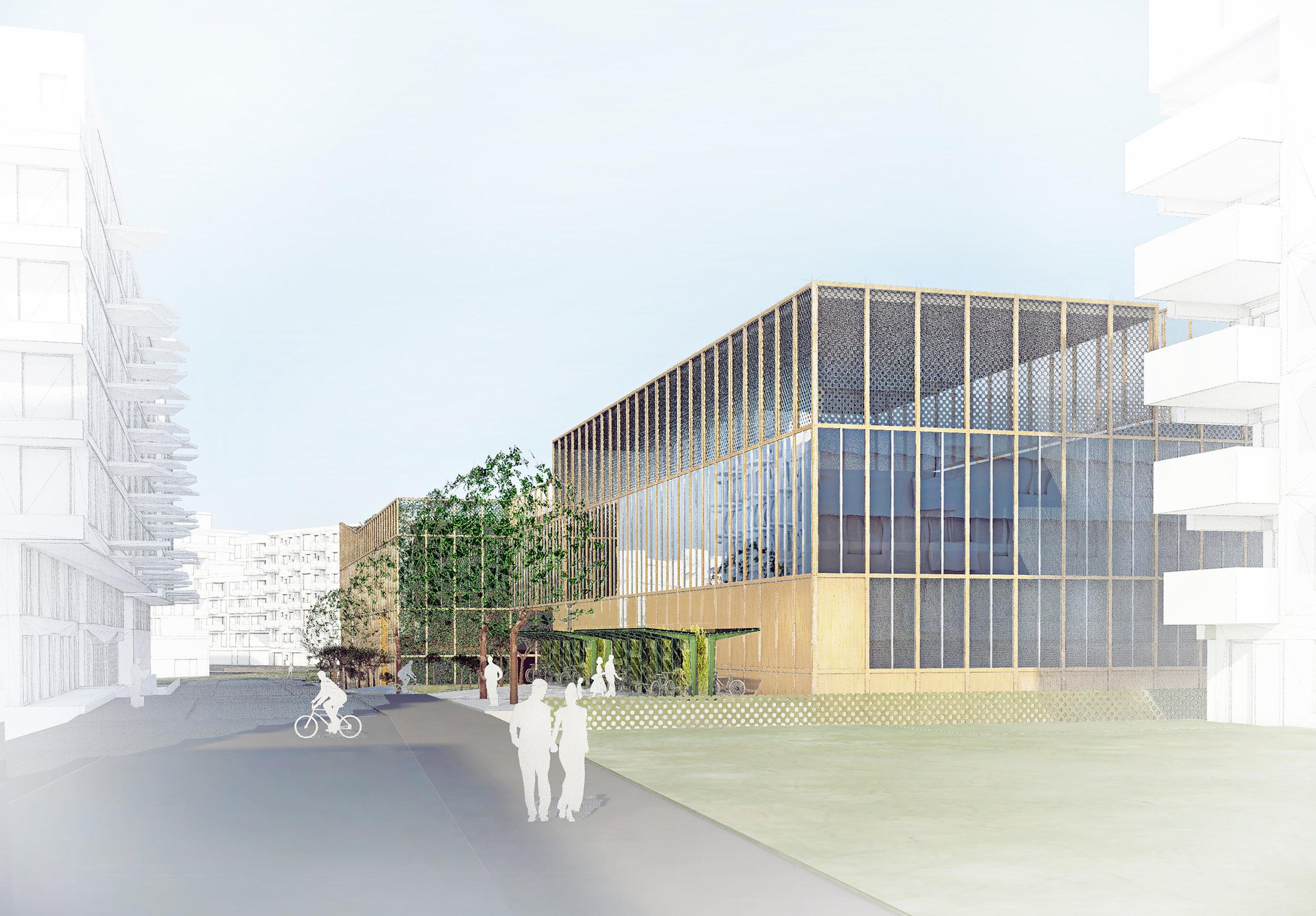 Planforum Arkitekter_Bjørvika skole_Perspektiv fra Sørengkaia.jpg