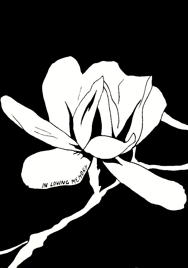 Ink drawing art flower loving memory.jpg