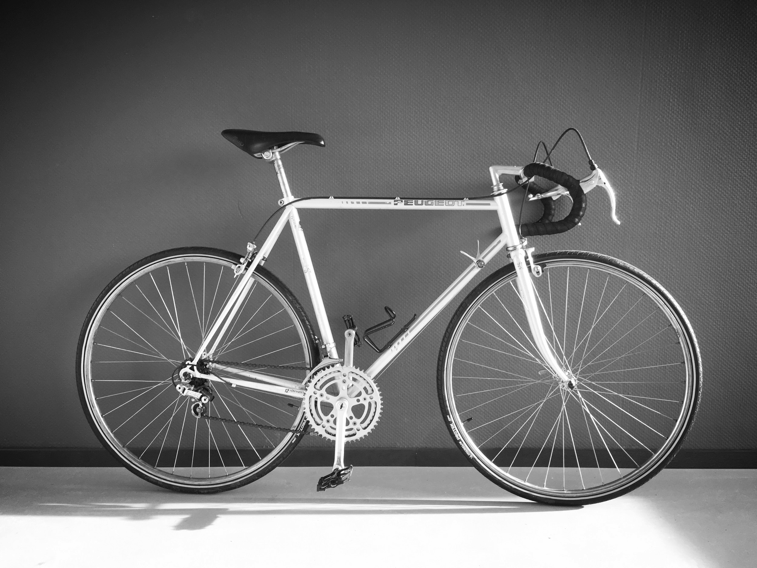 peugeot racer - GreySteelSize 57, [riders > 175cm} 6 speed, New Michelin Protek tires.Ready for winter.sold