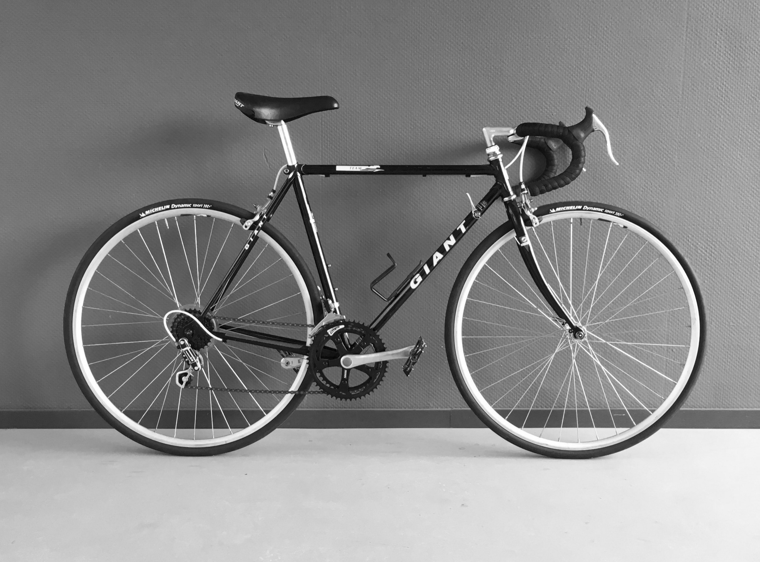 Giant racing/touring bike - SteelFrame height 52 cm[riders < 170cm]2x7speedNew Michelin tiresNew handlebar tapeBike is in mint condition.sold