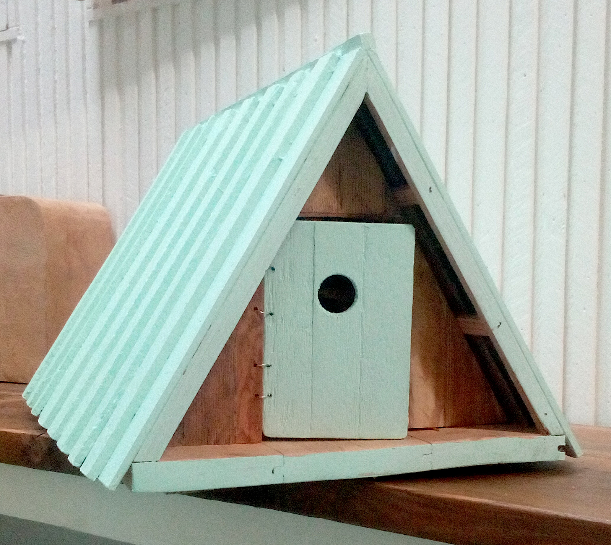 Green Wooden Hut Model
