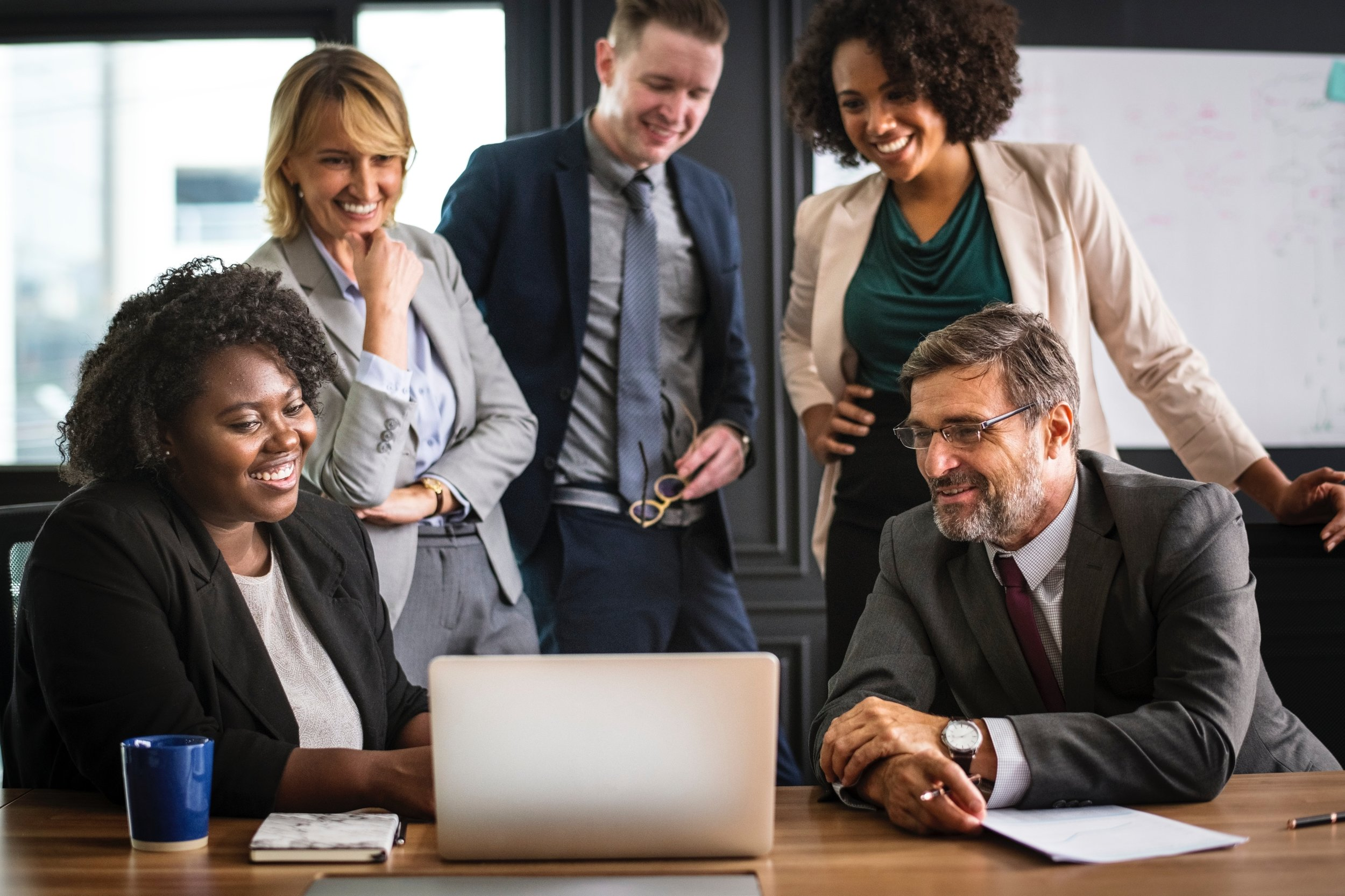 We've yet to find a stock image of 'negotiation' where the subjects look anything other than absolutely ecstatic. We like the stock library's positivity.