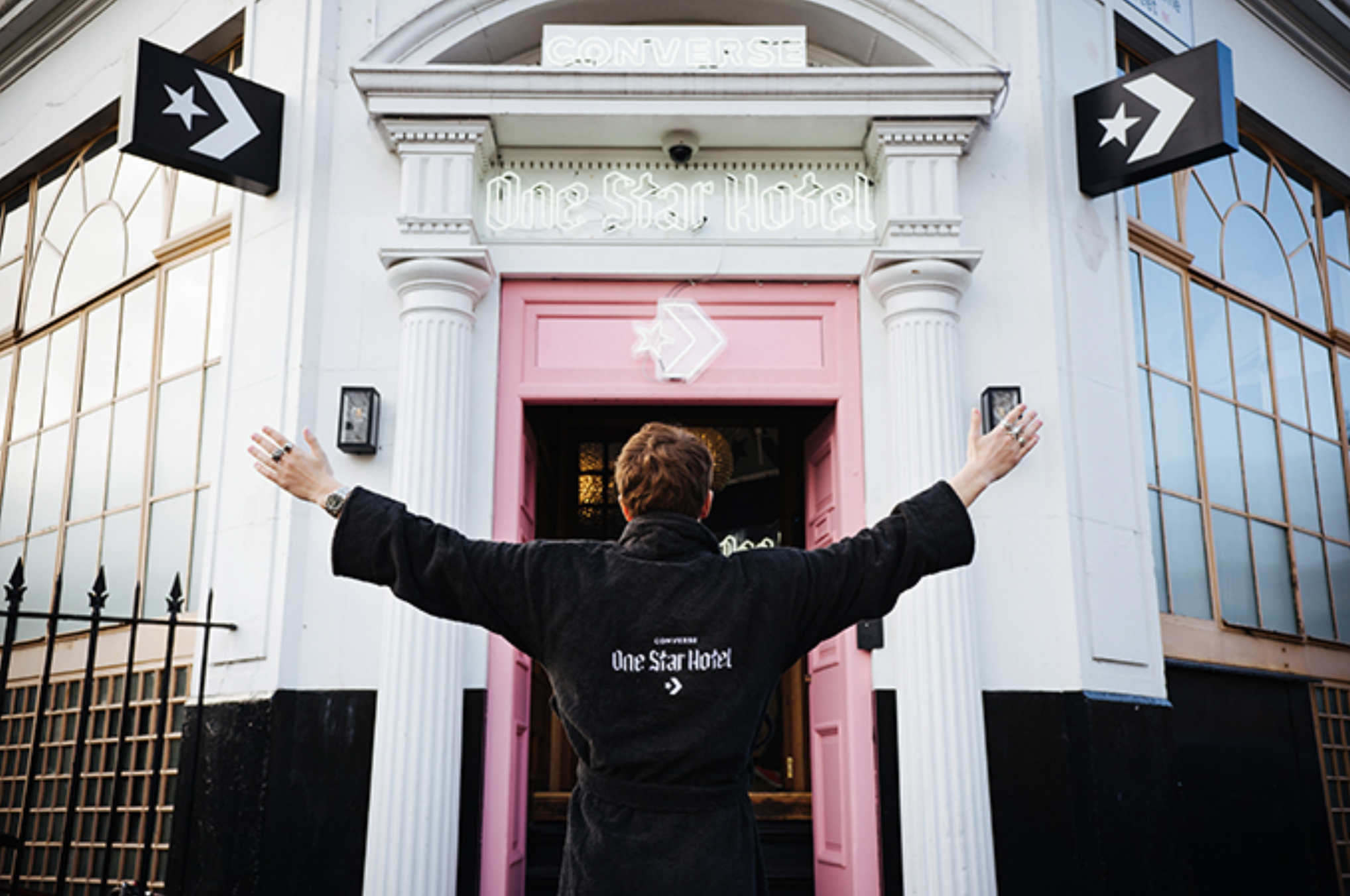 Converse One Star Hotel activation in Shoreditch