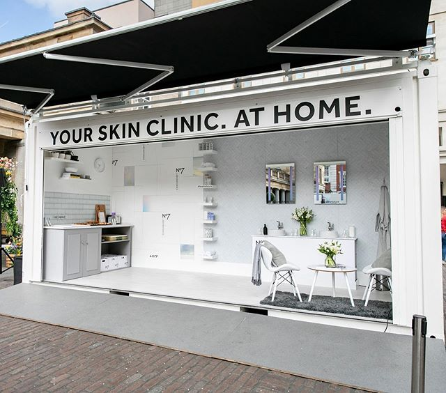 Your Skin Clinic. At Home. Checkout images from our 3 day roadshow with Boots No7 Laboratories new skincare collection. Creative design and fit-out including all roadshow logistics courtesy of The Unicorns alongside the lush team @ogilvyuk 🌟@bootsuk & @no7uk #teamunicorn #eventprofs #FacetheFuture #Boots #No7 #ProductLaunch #events #brandexperience #agencylife #roadshow