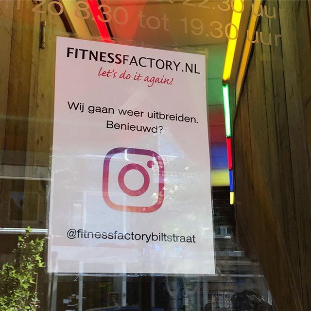 Fitness Factory XXL: vanaf 1 oktober 1000m2. #xxl #fitness #biltstraat #fitnessandfriends
