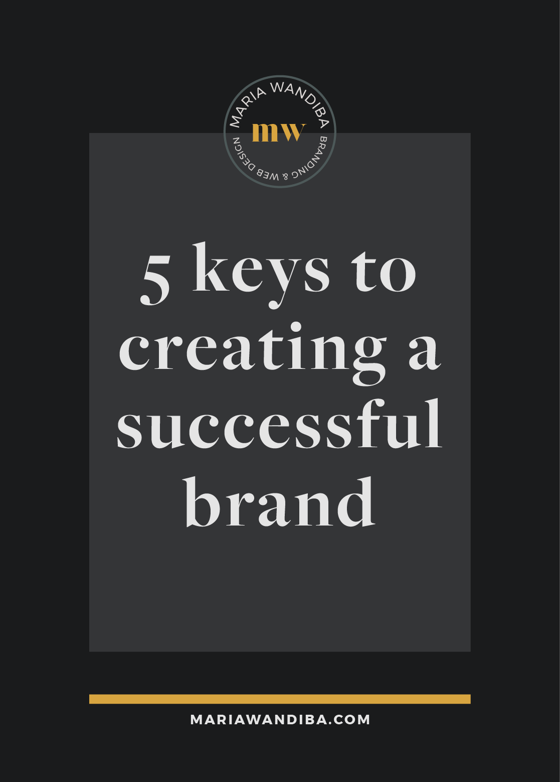 A lot of times, businesses think that just because things look good on the outside / visual side, then their brand will be successful. There are different components needed in order to create a successful brand but for the sake of sanity and simplicity, we'll go through 5 key elements that you need to adapt in order to help you create a successful brand that all businesses want to achieve.