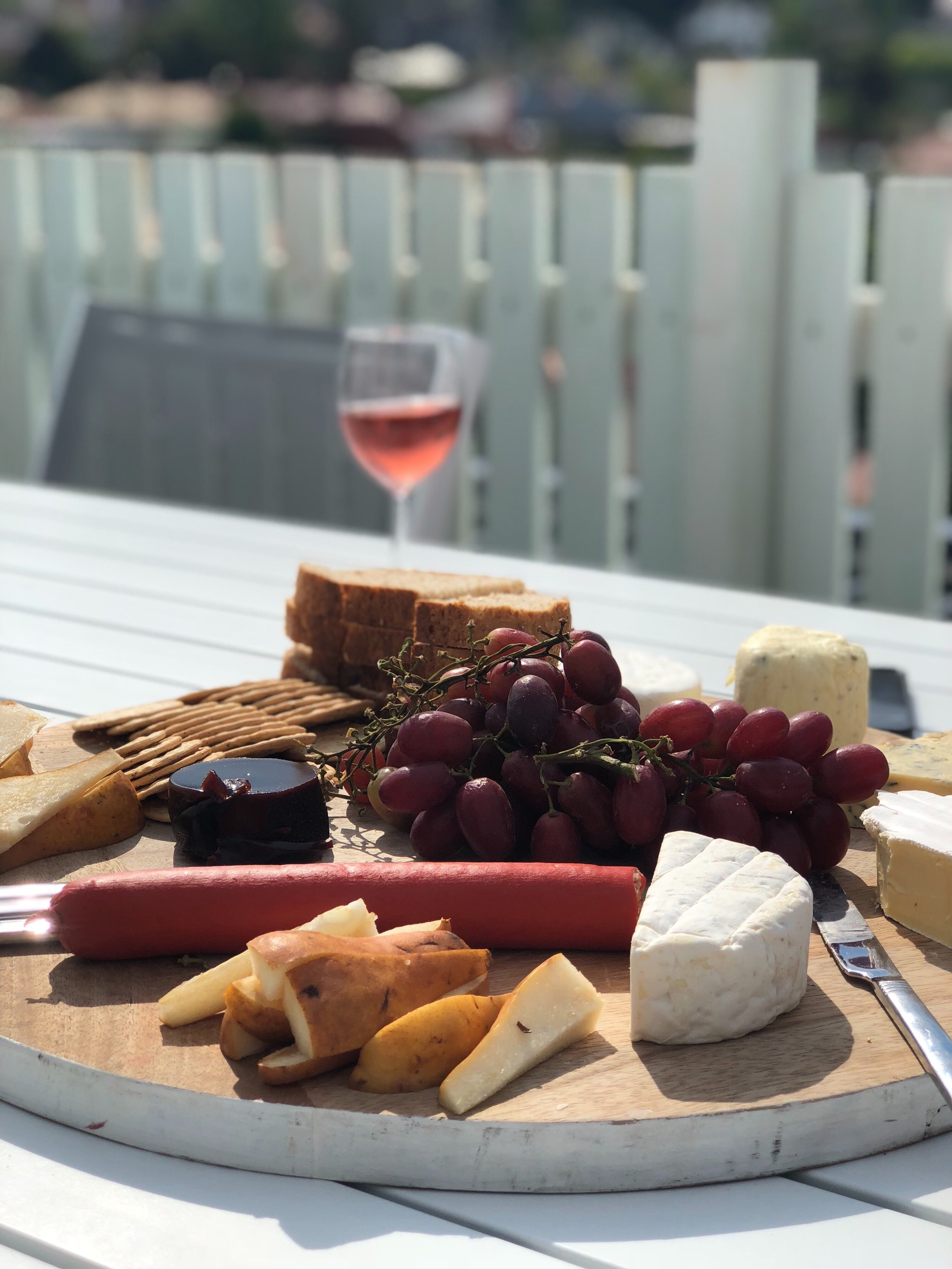- We stayed at a gorgeous Airbnb in Sandy Bay, and got to enjoy wine and cheese in the sun on the balcony at the end of each day. Let me tell you, the food and wine scene in Tassie is bumpin'.Here are a few spots where we ate that I would recommend:Ettie's (we had small bites and wine but the degustation menu looked yummy, and affordable!)MACq 01 (on the water, lot's of delicious seafood options)Pilgrim Coffee (once you get past the weird coffee options, a