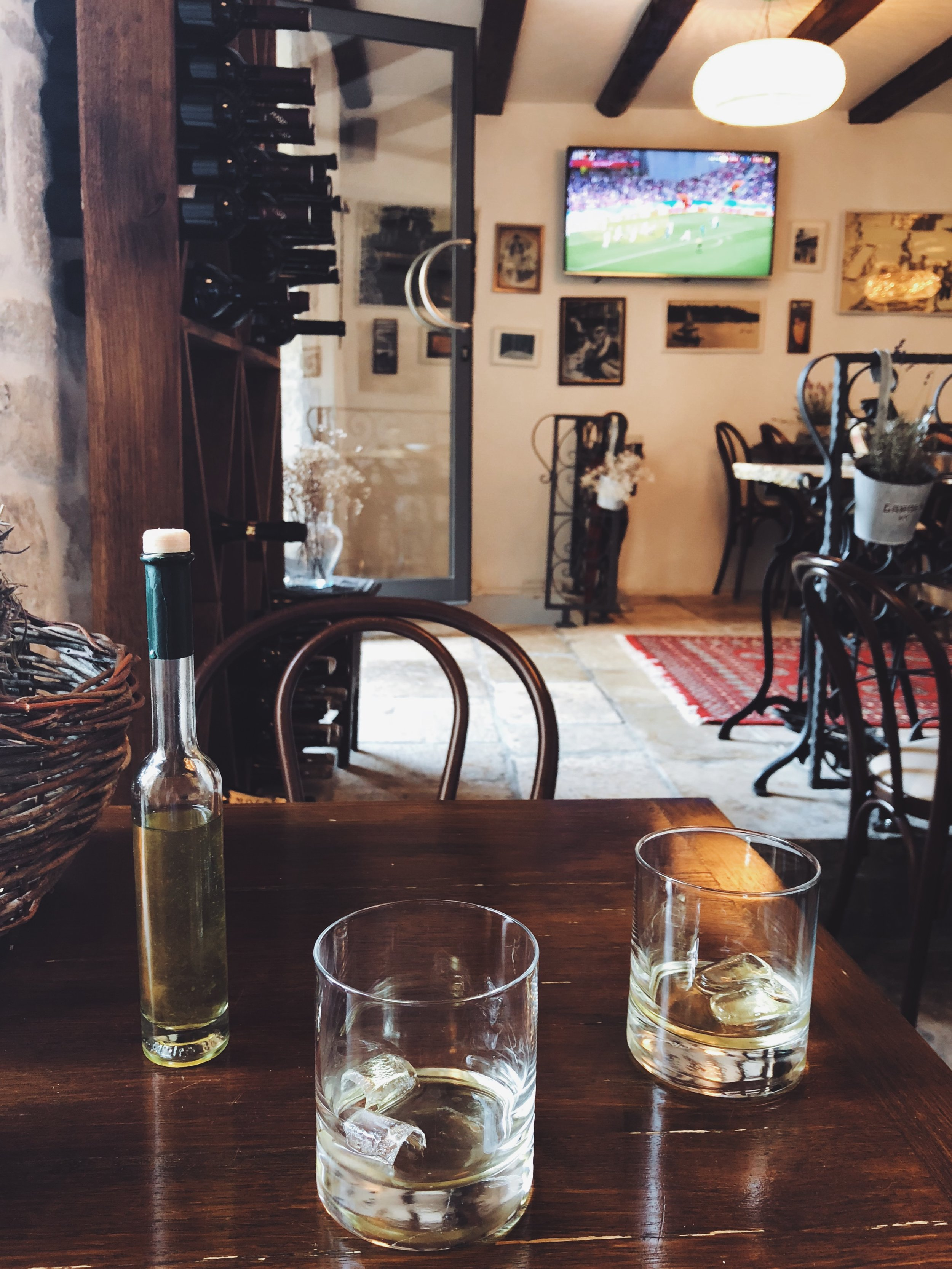 - After we settled in, we headed downstairs to the restaurant/bar and sipped on some limoncello while watching a World Cup match (it was such a great time to be in Europe)! That night, we explored the old town by foot and enjoyed a warm summer night on a Croatian island.