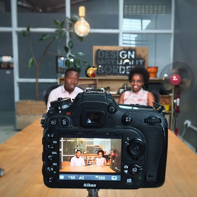 Lights, camera, action!💡🎥🎬@kampaladesignweek is interviewing our fabulous designers Lawrence and Abigail this morning for a documentary launching the first Kampala Design Week, kicking off this November. Stay tuned! #kampala #dwb #designweek #filming #kampaladesignweek #uganda #eastafrica