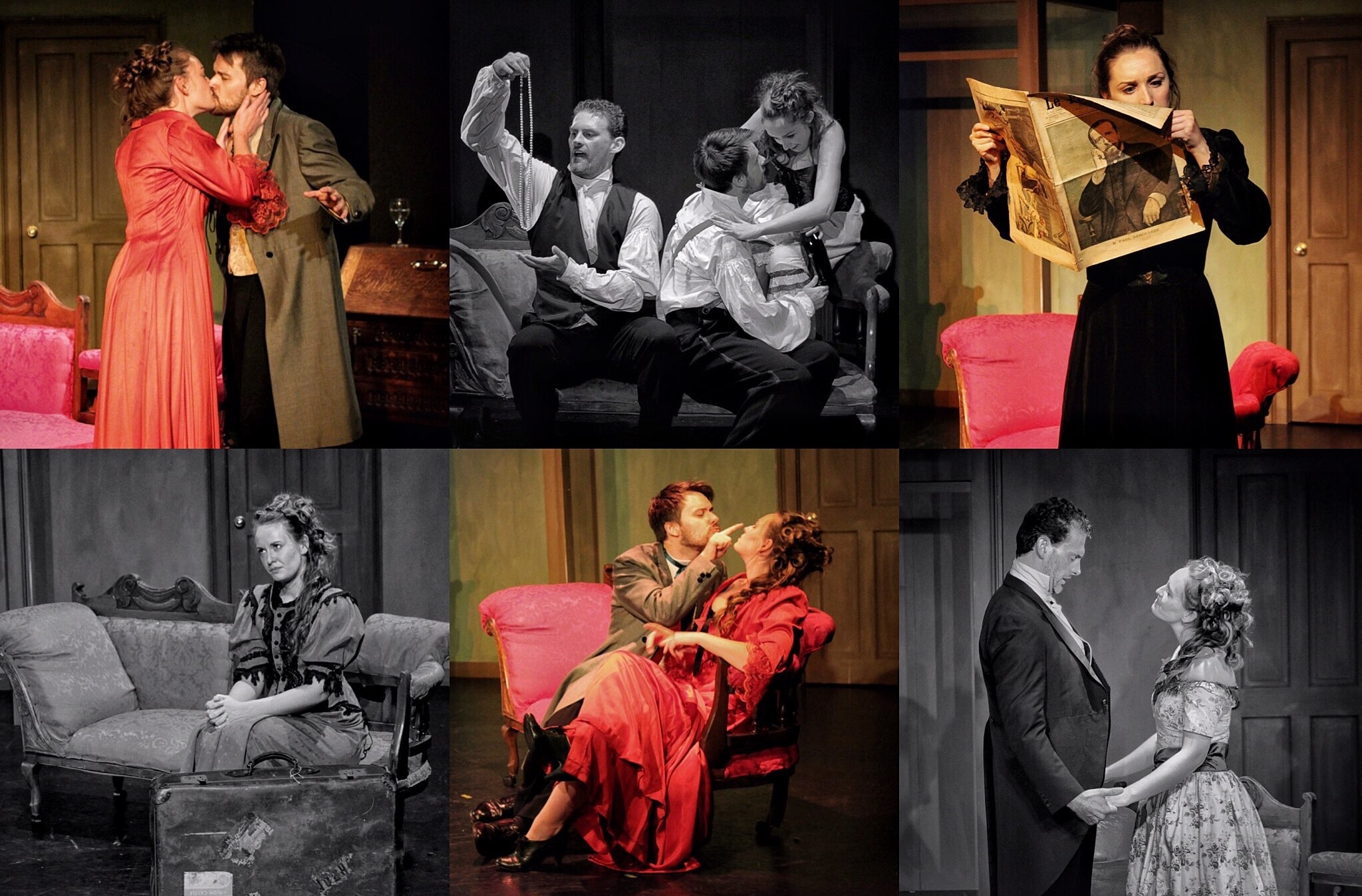 Production stills from the theatrical debut of Glamour Girl at The Maltings Arts Theatre, St Albans, 2016